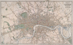 Laurie's plan of London and Westminster, and Southwark. Trigonometrically surveyed by John Outhett